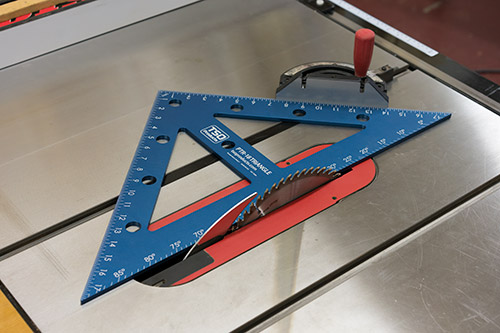 Remove the foot to calibrate your miter gauge to the table saw blade, or ensure a perfect 45 or 90 degree cut on the miter saw.